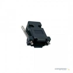 Capa Para Conector Db09/db15 Vga Plastica Preta